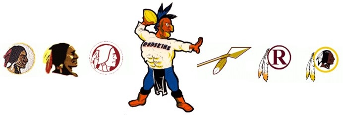 Evolution of the Washington Redskins Logo